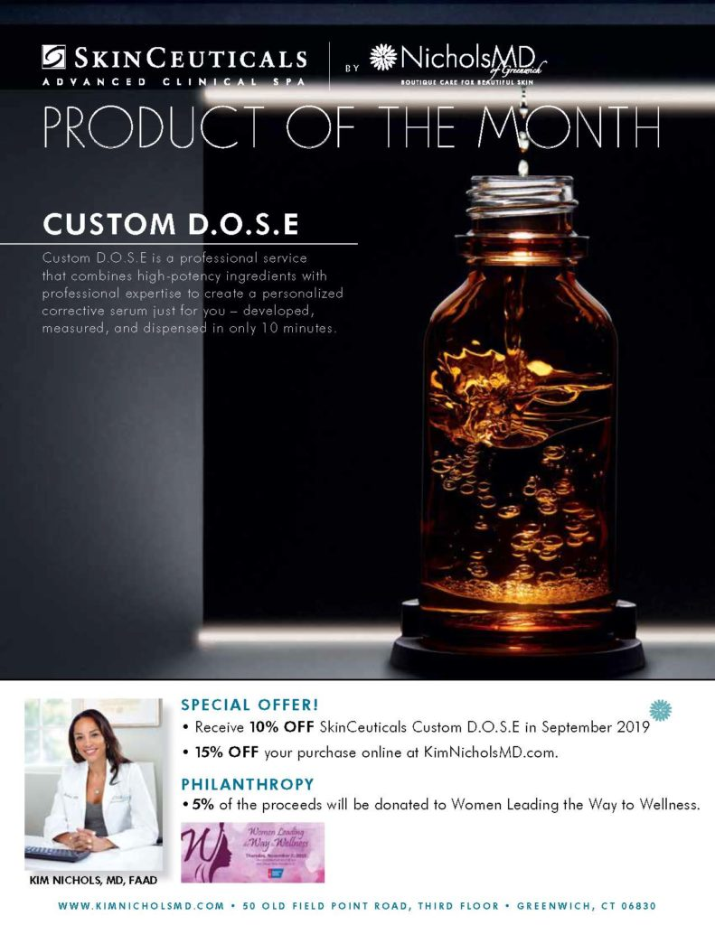 This months Product of the Month is Custom D.O.S.E. Receive 10% off in store and 15% off your purchase online.